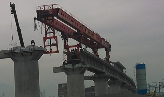 40/180 架桥机施工过程